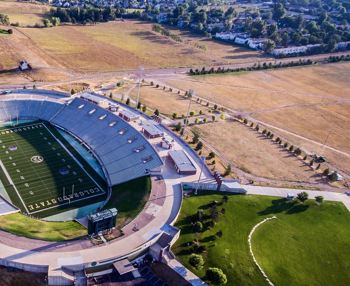 football-stadium in Fort Collins Colorado square